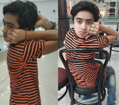 pakistani boy rotate head backward