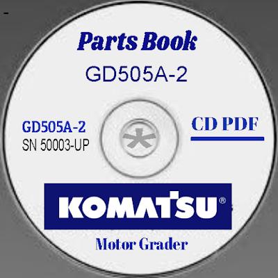 Komatsu Parts Book GD505A-2