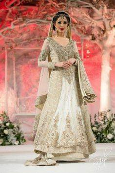 Gold Pakistani Bridal Wedding Dresses