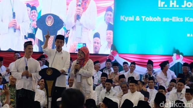 Wanita Banser Curhat Minta Uang Motivasi ke Jokowi, Warganet: Belajar dari FPI yang Ikhlas Membantu