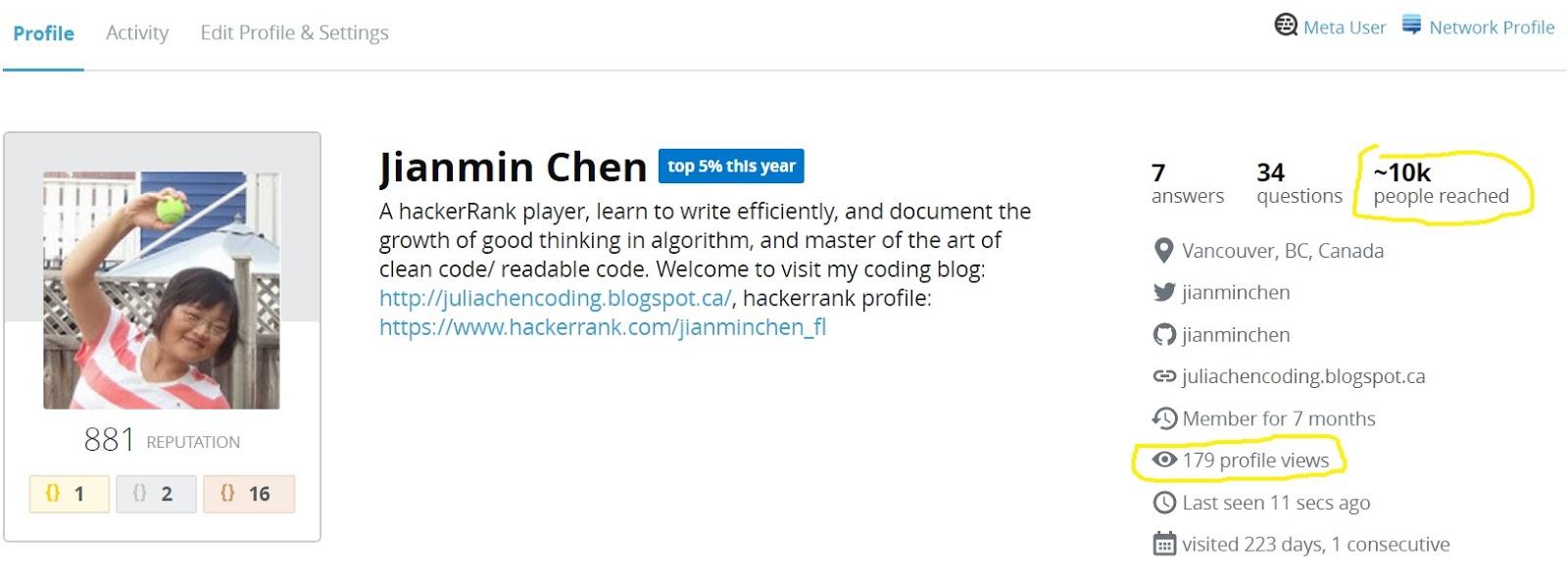 Julia's coding blog - Practice makes perfect: Am I good