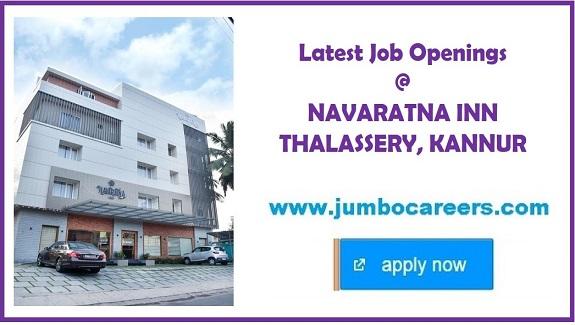 thalassery hotel jobs, thalassery hotel management jobs, Thalassery jobs
