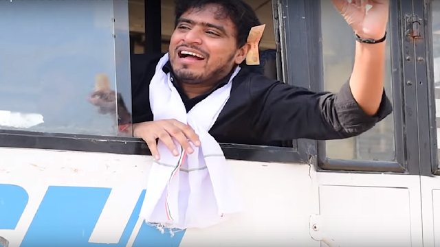 Amit Bhadana popular comedy video TYPES OF PEOPLE IN A BUS