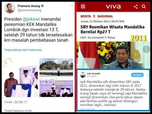 Heboh! Istana Klaim Peresmian Mandalika, Padahal Sudah Diresmikan SBY Tahun 2011