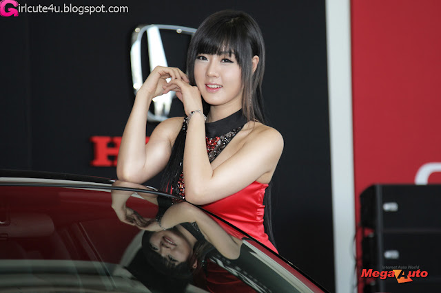 2 Hwang Mi Hee with New Honda's Hybrid CR-Z-very cute asian girl-girlcute4u.blogspot.com