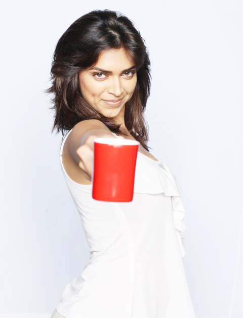 Indian Actress Deepika Padukone PhotoShoot In Hot Short White Dress