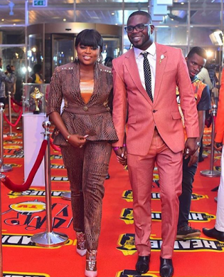 Funke Akindele and husband, JJC