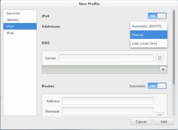 How to set static IP address in CentOS using graphical user