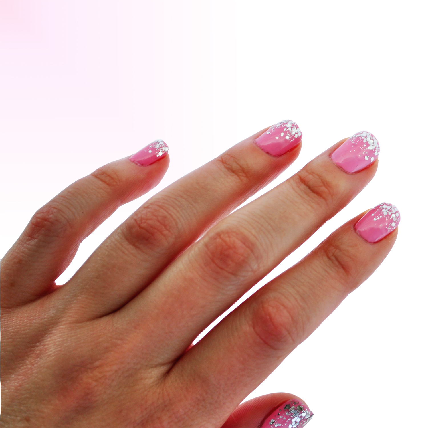 Bubble Gum Nail Art: Ditty Drops: Confetti Bubblegum Nail Art