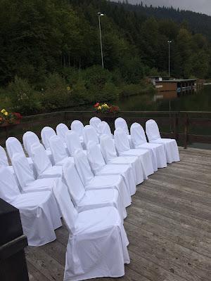 Wedding ceremony on the lake, Texas wedding in Germany, Bavaria, Garmisch-Partenkirchen, Riessersee Hotel, wedding destination location, wedding planner Uschi Glas, alps and lake-side wedding