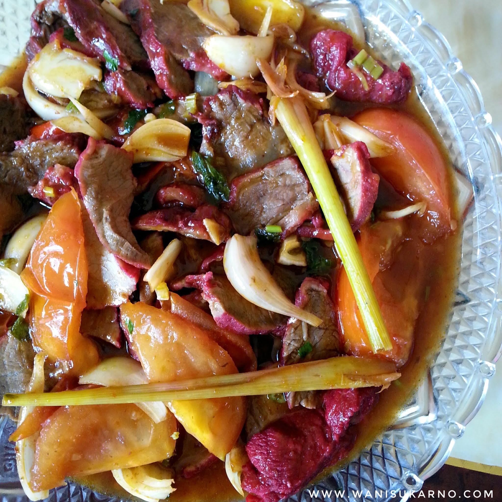 resepi daging masak merah ala thai simple dan sedap