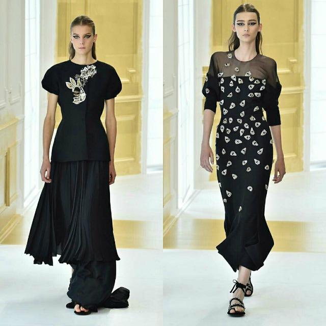 Dior alta costura outono/inverno 2016-17 - Looks chiques em preto e branco