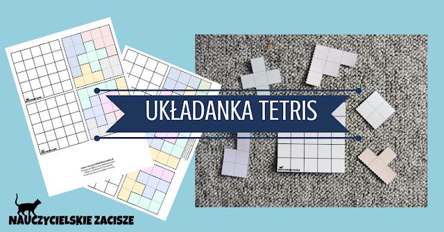 Układanka logiczna Tetris dla dzieci Nauczycielskie za