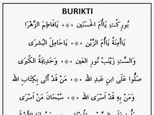 Lirik Sholawat Burikti (Arab dan Artinya)