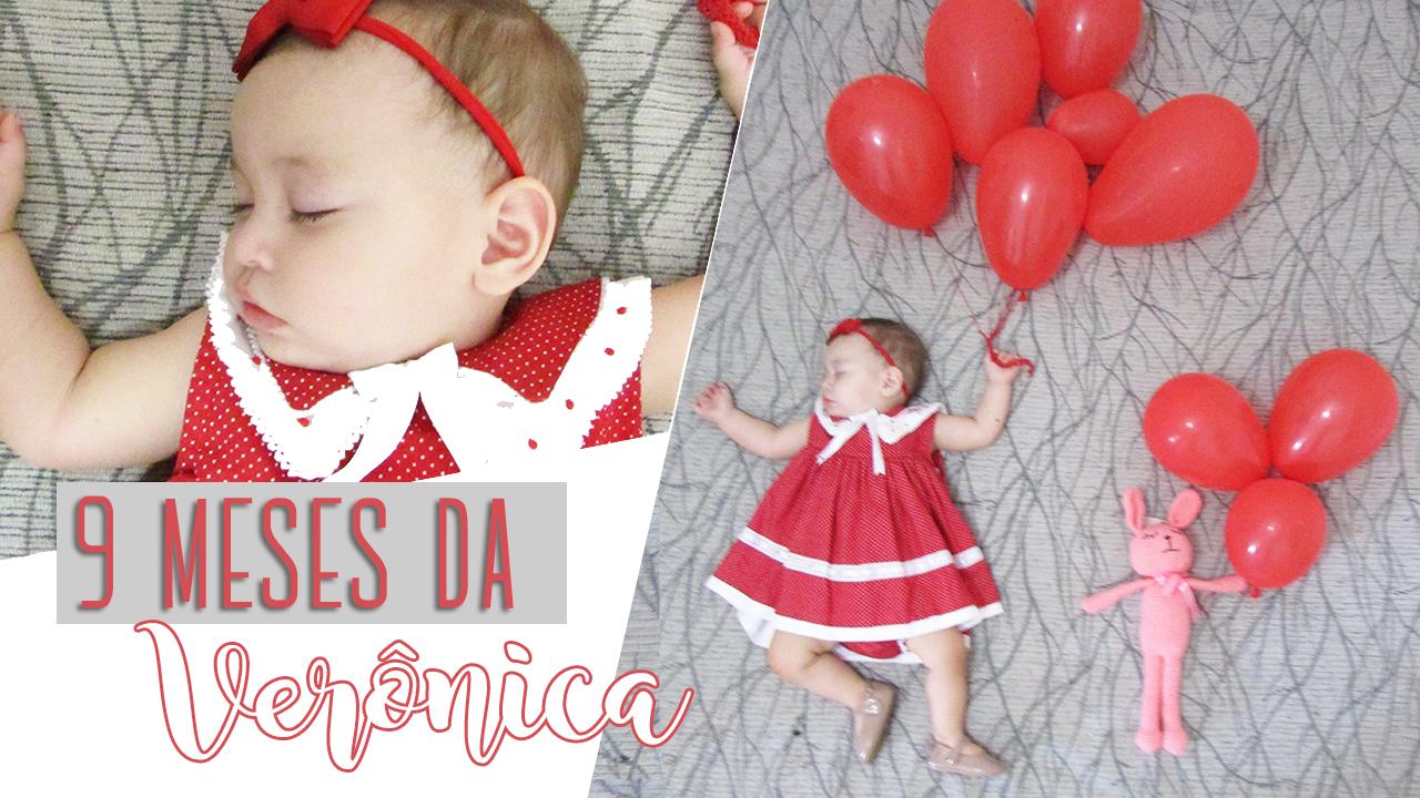 Ensaio Fotográfico de Bebê com Balões - 9 meses da Verônica - Lookinho Amy Baby Enxovais