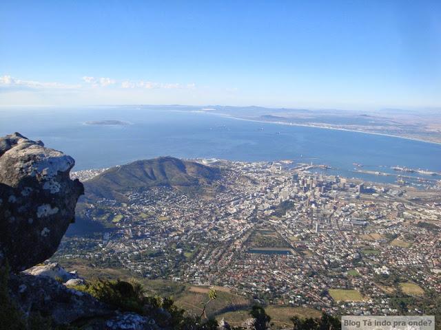 Cidade do Cabo vista da Table Mountain, África do Sul
