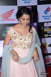 Manasa Himavarsha Stills at Mirchi Music Awards 2016
