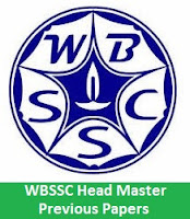 WBSSC Head Master Previous Papers