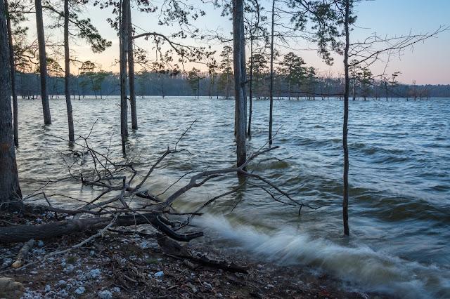 Broken Bow Lake Sunset