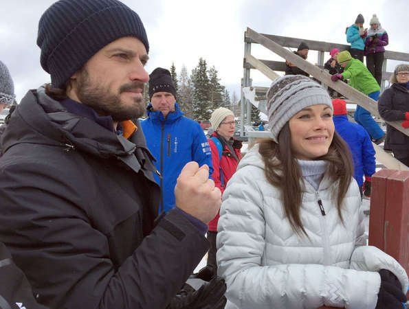 Prince Carl Philip and Princess Sofia visited the Vasaloppet's Winter Week 2017 ski race in Sälen, Dalarna