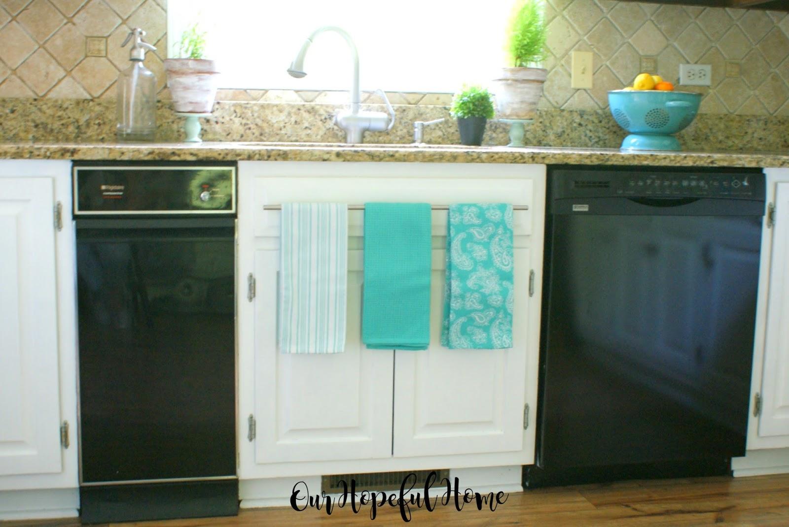 how to install farmhouse kitchen towel bars