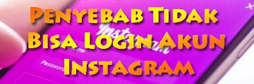 Faktor Dan Penyebab Tidak Bisa Login Akun Instagram