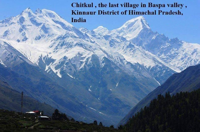 Chitkul ,The last village in Baspa valley Kinnaur District of Himachal Pradesh, India