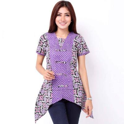 Model Baju Batik Wanita Gemuk1