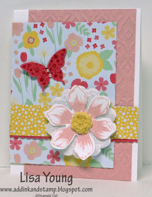 Stampin' Up! Beautiful Bunch stamp set. Handmade card by Lisa Young, Add Ink and Stamp