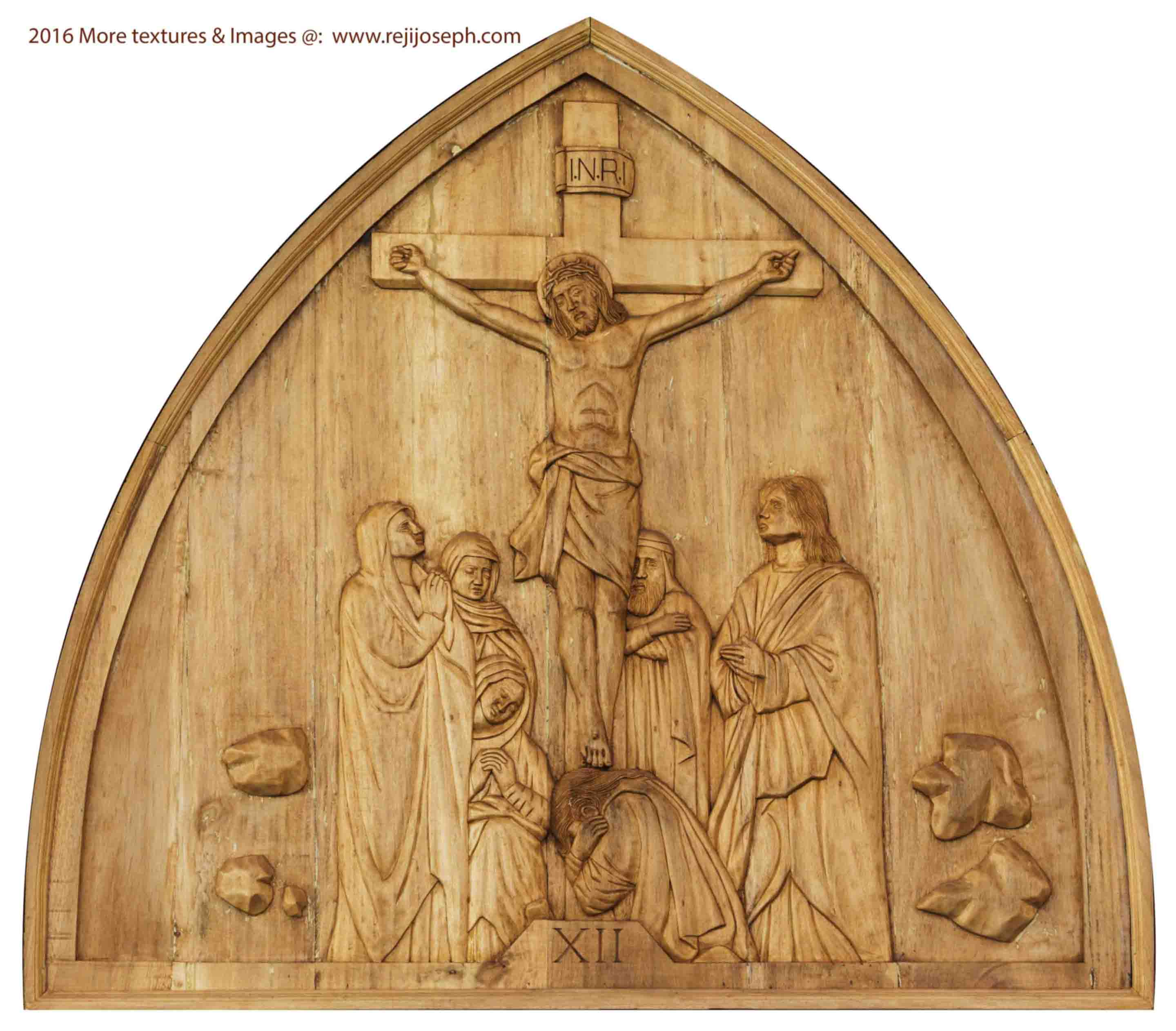 Way of the cross wooden relief 012