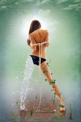 Manipulación o fotomontaje  fotográfico mujer sexy