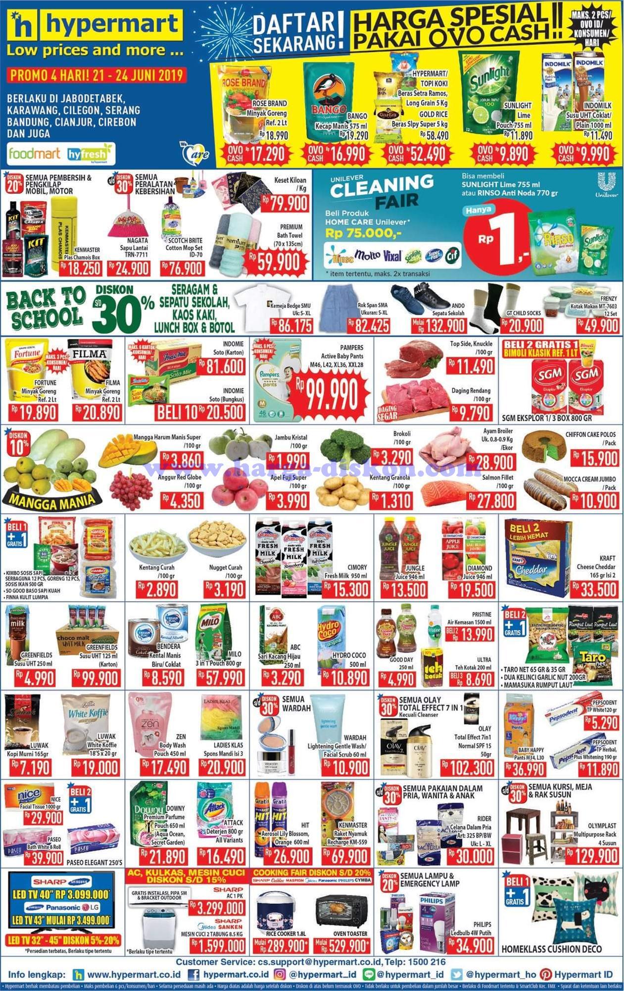 Promo Hypermart Akhir Pekan 4 Hari Periode 21-24 Juni 2019