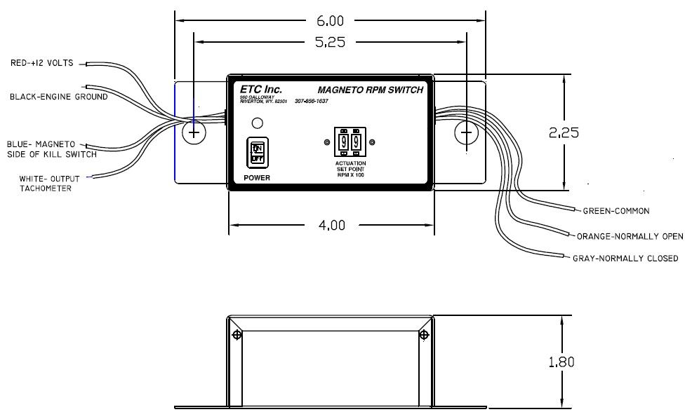 ETC Rev Limiters: Magneto RPM Switch