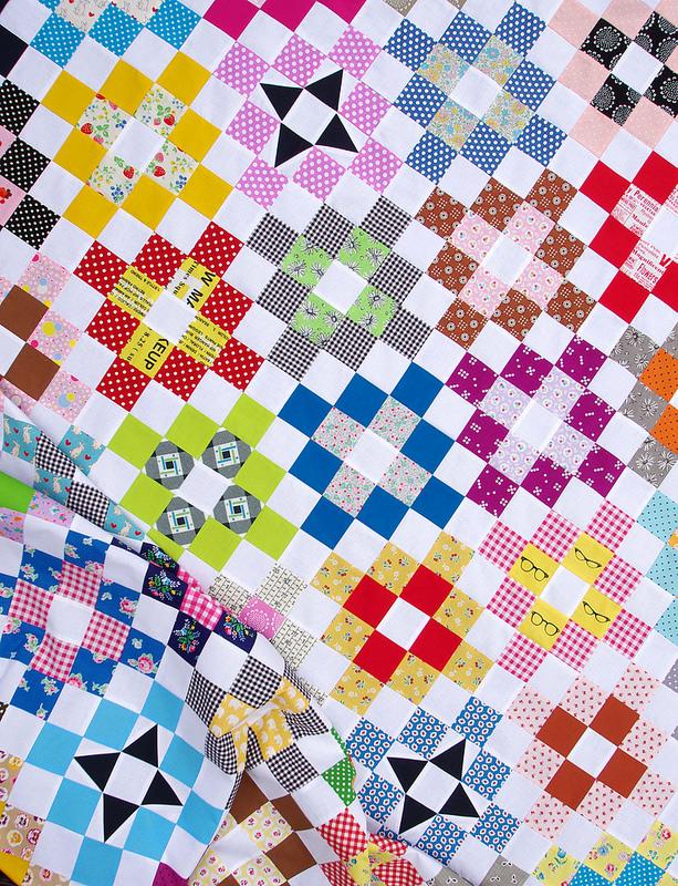 A Strip Pieced Trip Quilt | Red Pepper Quilts 2016