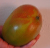 Mango for Homemade Lemon Pancakes and Mango Sauce Image