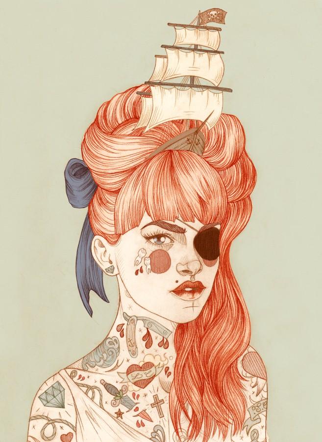Татуированные женщины Лиз Клементс (Liz Clements) 15