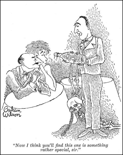 a Gahan Wilson cartoon about wine