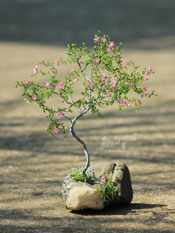 wzory koralikowych drzewek szczescia