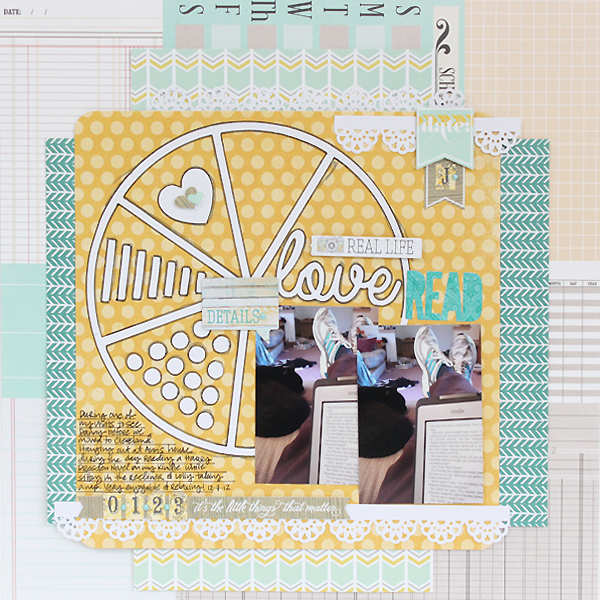 Love To Read Layout by Juliana Michaels using Pie Chart Love Digital Cut File