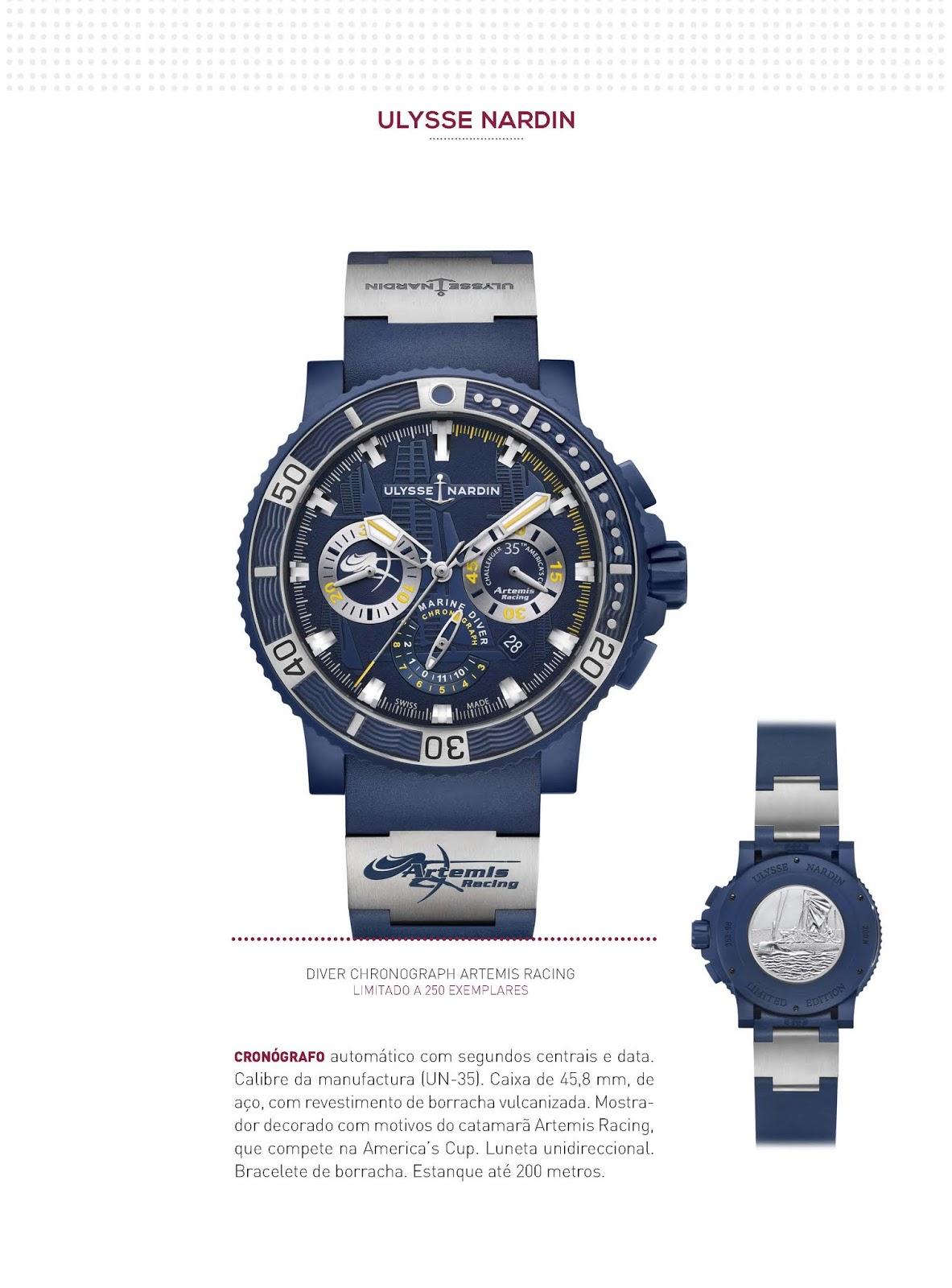 8531ef2b9ca Os relógios Ulysse Nardin no Relógios   Canetas online