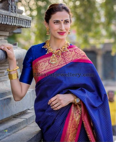 Shilpa Reddy Nakshi Temple Jewellery