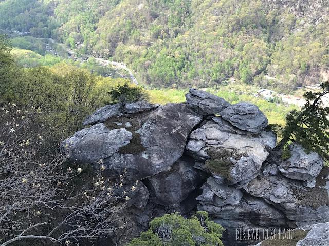 Der Rabe im Schlamm, Chimney Rock, North Carolina