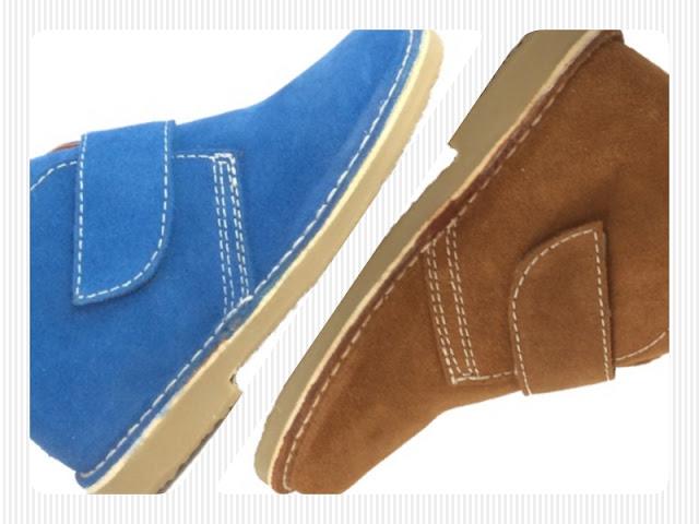 botas safari para niños en azul klein y marrón setter