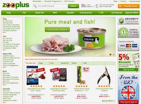 圖說: Zooplus 為歐洲最大寵物電商,圖片來源: 網頁截圖