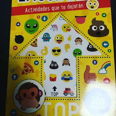 emojimanía, emojis, emoji, que estás leyendo, obelisco, picarona, lecturas, infantil, actividades, cuaderno de actividades, pegatinas,