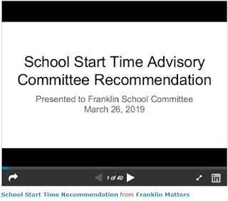 The School Start Times Presentation (audio)