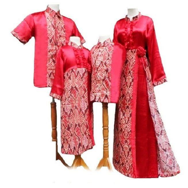 22 model  baju  batik couple keluarga modis untuk pesta