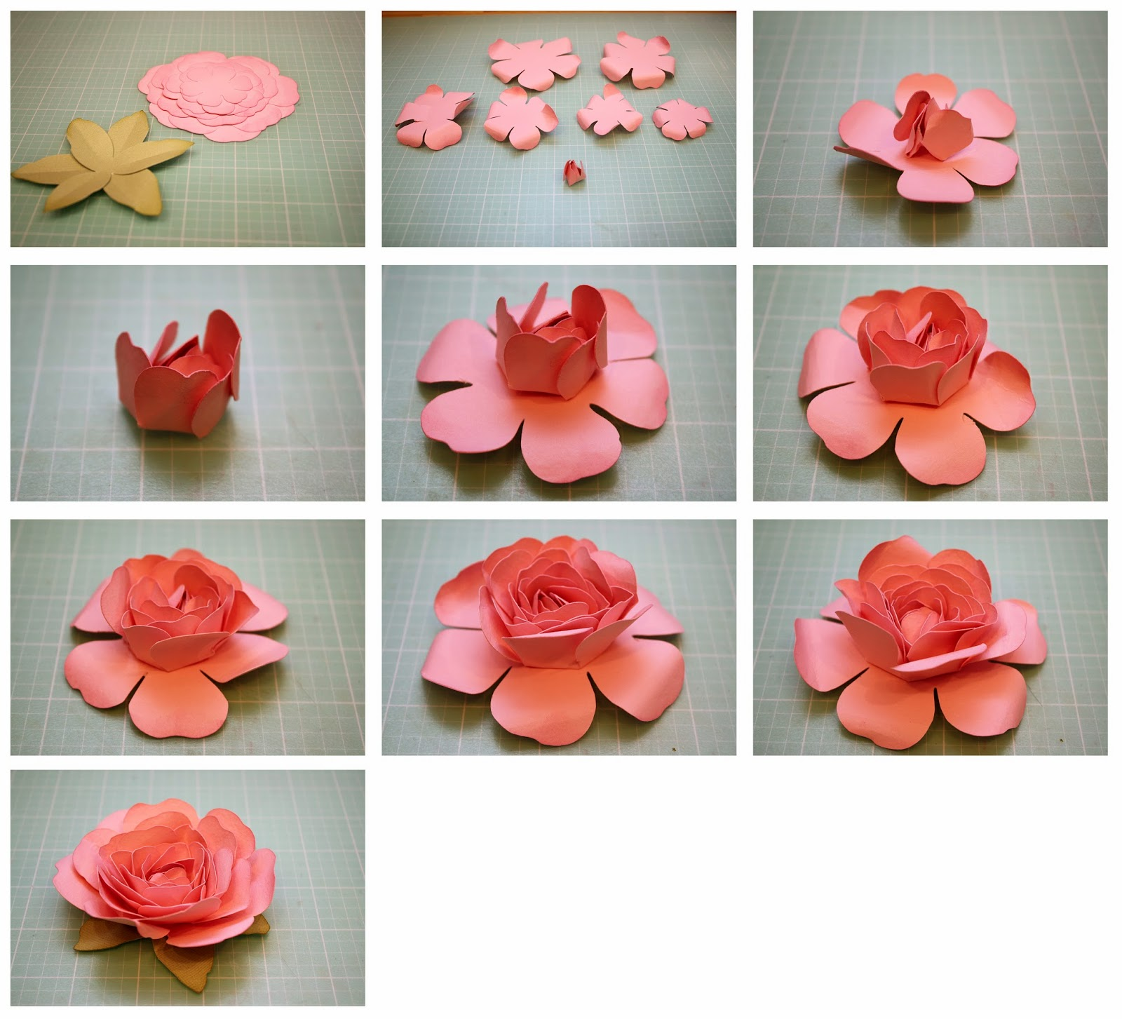 Детства, маленькие цветы из бумаги на открытку своими руками