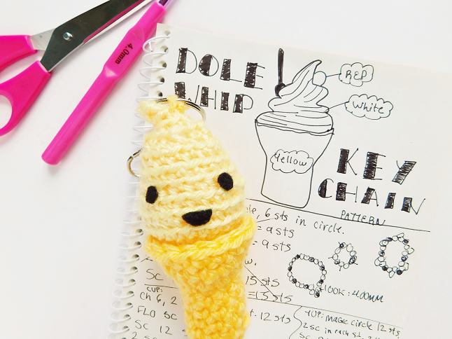 Dole Whip Key Chain Crochet Pattern