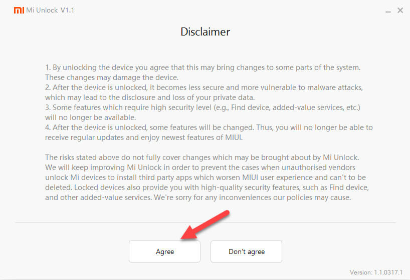 Pilih Setuju Untuk Unlock Bootloader Xiaomi